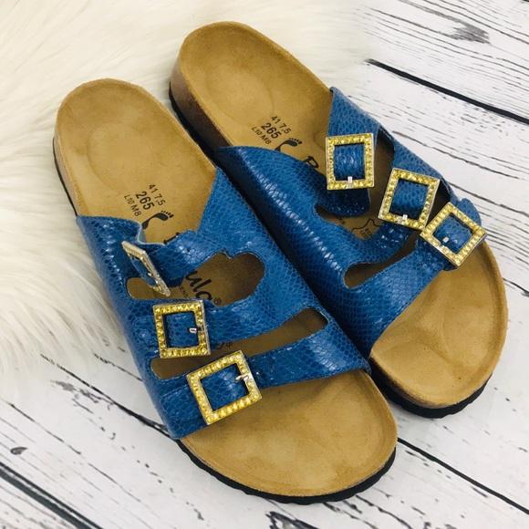 e75bc77c2c3c Birkenstock Shoes - BETULA WOOGIE 3-BAND SNAKE-PRINT SANDALS